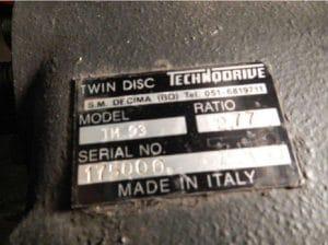 Merivaihde Twin Disc Technodrive TM 93